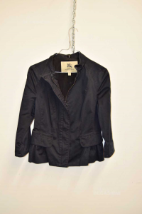 Giacca Donna Burberry Nera In Cotone Slim Fit Tg.40