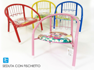 Sedia Per Bambini Bassa Con Fischietto Colorato Disponibile in Varie Colorazioni Giocattolo Bambine E Bambini