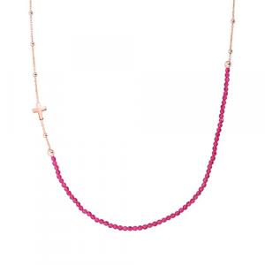 Collana Argento e cristalli rossi Amen