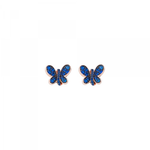 Orecchini Argento e zirconi blu Amen