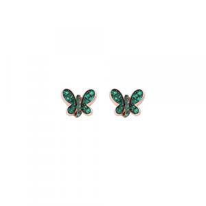 Orecchini Argento e zirconi verdi Amen