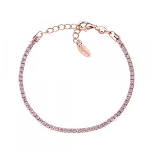 Bracciale Argento e zirconi rosa Amen