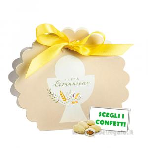 Portaconfetti Beige Prima Comunione 5.8x4x8.5 cm - Scatole comunione