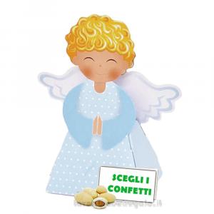 Portaconfetti angelo Celeste Prima Comunione 5.2x3.4x9.5 cm - Scatole comunione bimbo