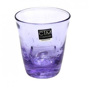 Bicchieri colorati con bolle LILLA  Samoa