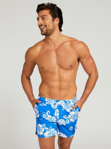 Guess Boxer Costume Bermuda Stampa All Over