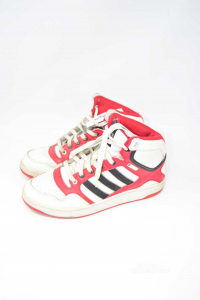 Scarpe Uomo Adidas Bianche Rosse N.42.5
