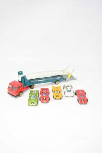 Truck Portauto Bisarca Launch Esadelta 1 / 66 Penny + 4 Auto Politoys