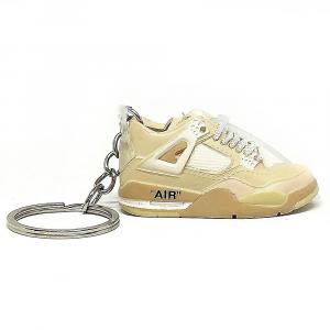Air Jordan 4 Off White portachiavi mini sneaker da collezione