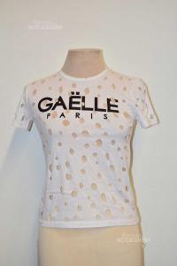 Maglia Donna Gaelle Paris Bianca Mod. 55ts25 Art.je113 Tg.m