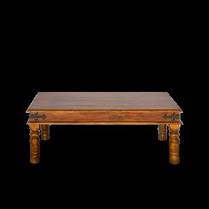 Tavolino da salotto in legno di sheesham finitura marrone rossiccia