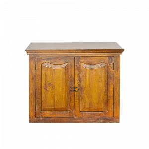 Credenza bassa con 2 ante in legno di palissandro indiano finitura marrone rossiccia