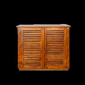 Mobile con 2 ante in legno di palissandro indiano