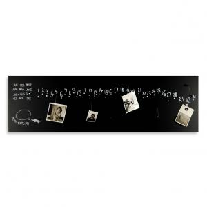 Calendario e organizer decorativo da muro Krok2 nero 100x30 cm
