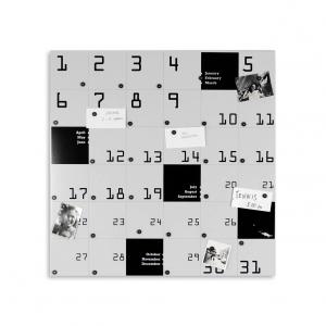 Organizer decorativo da muro Remember bianco 80x80 cm