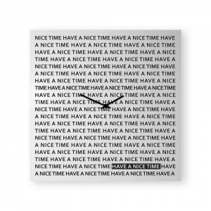 Orologio da muro Nice Time bianco 80x80 cm