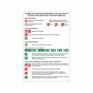 Cartello Informativa per gli edifici ad uso civile abitativo
