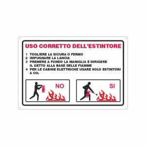 Cartello Istruzioni per l'uso corretto dell'estintore