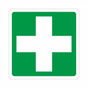 Cartello con simbolo E003 pronto soccorso first aid