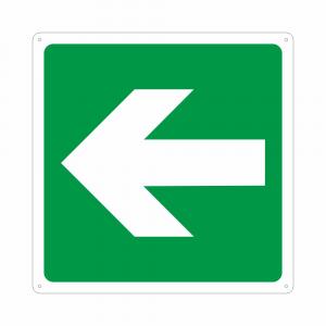 Cartello con simbolo E005 freccia direzionale