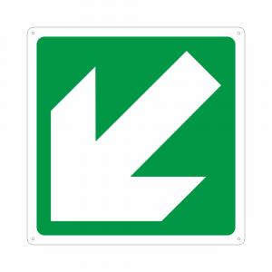 Cartello con simbolo E006 freccia direzionale obliqua orientata a 45 gradi