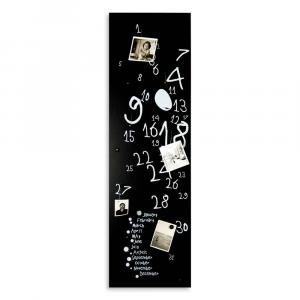 Calendario e organizer decorativo da muro Krok3 nero 30x100 cm