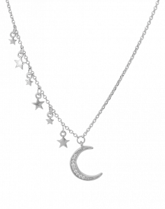 OSA JEWELS - Collana Argento MAYROSE con luna e stelle