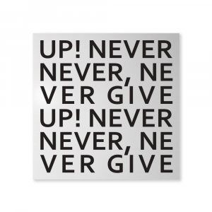 Organizer decorativo da muro Never Give Up bianco 80x80 cm