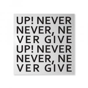 Organizer decorativo da muro Never Give Up bianco 50x50 cm