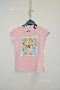Maglia Bambina Frozen Rosa Disney 122 Cm