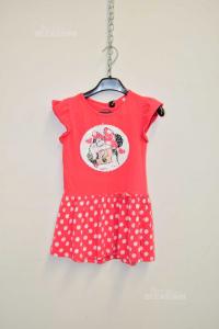 Vestito Bambina Dinsey Topolina Rosa 122 Cm