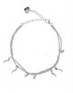 OSA JEWELS - Bracciale Argento MAYROSE con cornetti portafortuna