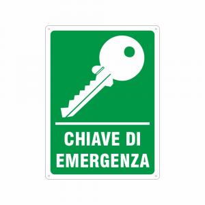 Cartello Chiave di emergenza
