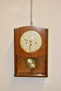 Orologio A Pendolo In Legno Chiaro Vintage Mauthe