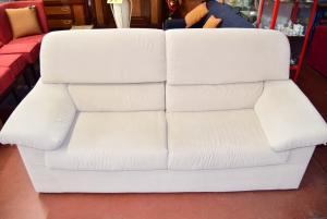 Sofa 3 Seats Beige Removable Cover (defect Zipper Poggiolo)