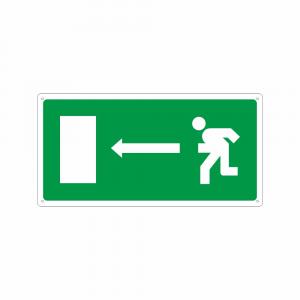 Cartello Percorso di emergenza a destra