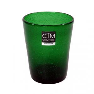 Bicchieri colorati con bollicine Tonga Verde Bosco