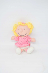 Doll Puppet Peanuts Sally Pink 20cm