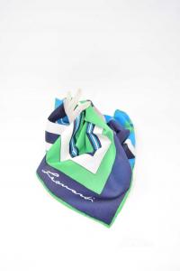 Foulard Blu Verde Bianco Di Leonardi