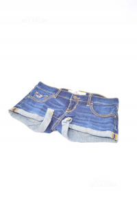 Shorts Jeans Scuro Bambina Hollister Tg. W 23