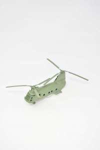 Helicopter In Plastic Green Vintage