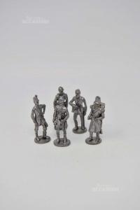 Game Vintage Soldatini In Pewter 5 Pieces