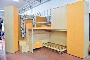 Bedroom Kids - Corner Wood Orange 2 Beds With Reti To Doghe Homes