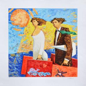 Talani Giampaolo Serigrafia Un viaggio Formato cm 70x70