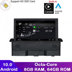 ANDROID navigatore per Audi A1 2010-2016 CarPlay Android Auto GPS WI-FI Bluetooth 8GB RAM 64GB ROM