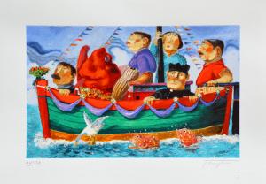 Procopio Pino Miracololo accadimento Serigrafia Formato cm 35x50