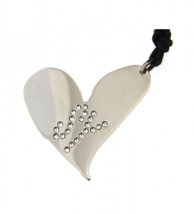 Pendente donna Sweet Years. Cuore in argento e cristalli.