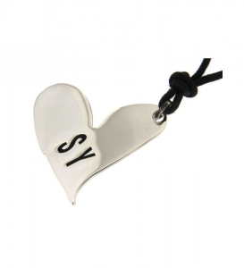 Pendente donna Sweet Years. Cuore in argento con logo.