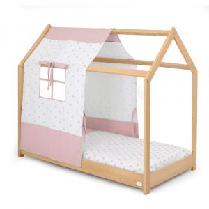 Letto Montessori Moovie con tessile rosa