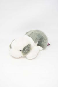 Plush Dog Trudi Gray White 25 Cm
